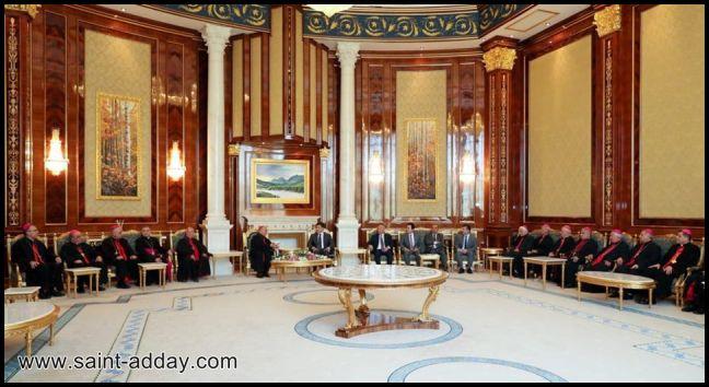 رئيس إقليم كوردستان يستقبل الكاردينال ساكو وآباء السينودس الكلداني  003