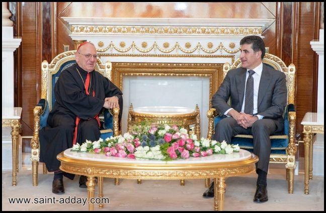 رئيس إقليم كوردستان يستقبل الكاردينال ساكو وآباء السينودس الكلداني  004
