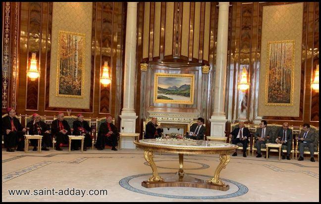 رئيس إقليم كوردستان يستقبل الكاردينال ساكو وآباء السينودس الكلداني  005