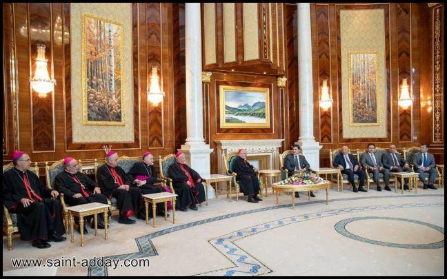 رئيس إقليم كوردستان يستقبل الكاردينال ساكو وآباء السينودس الكلداني  006