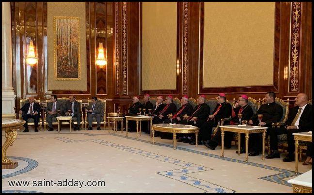 رئيس إقليم كوردستان يستقبل الكاردينال ساكو وآباء السينودس الكلداني  007